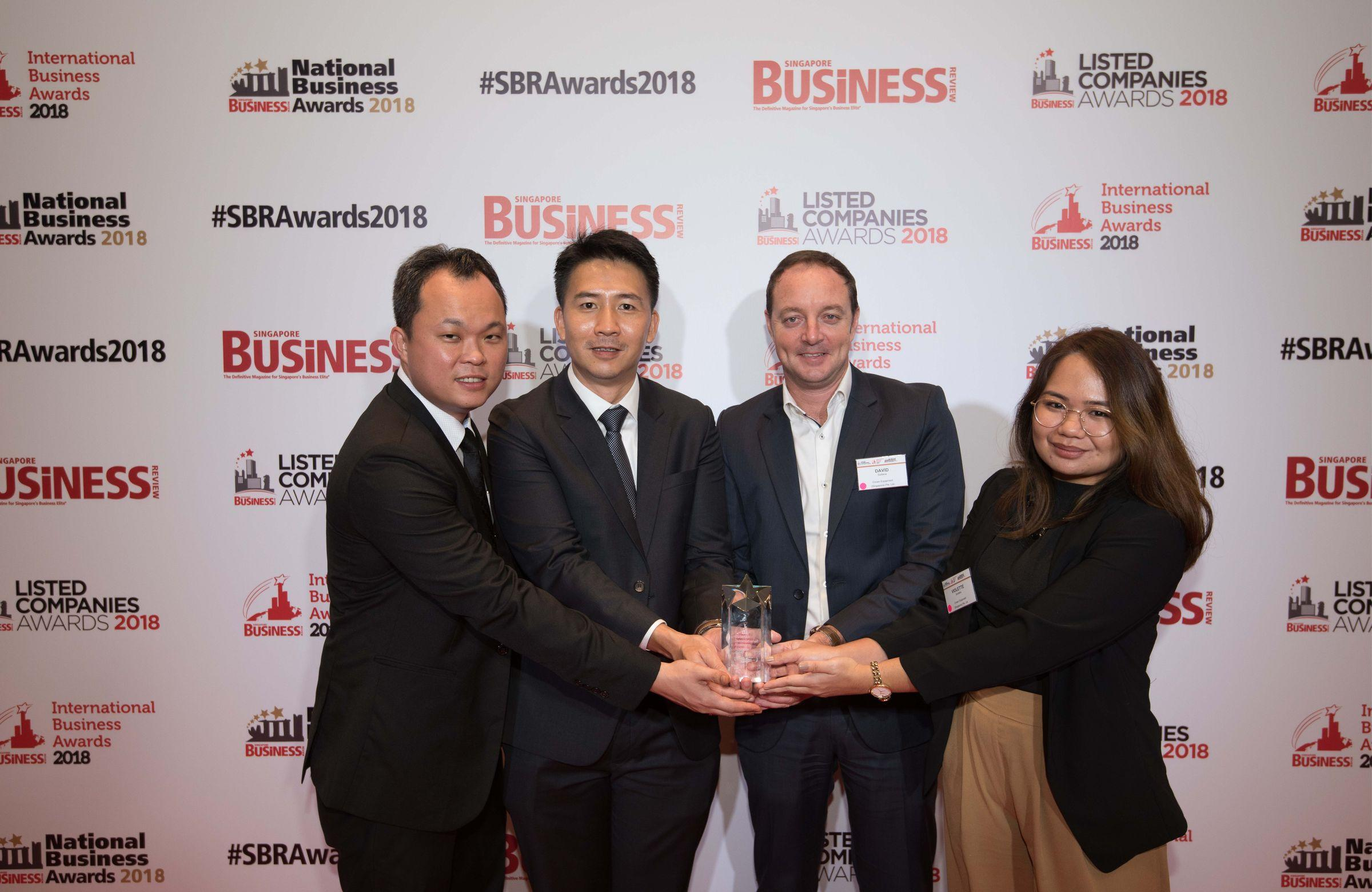 Singapore Business Review (SBR) International Business Awards 2018