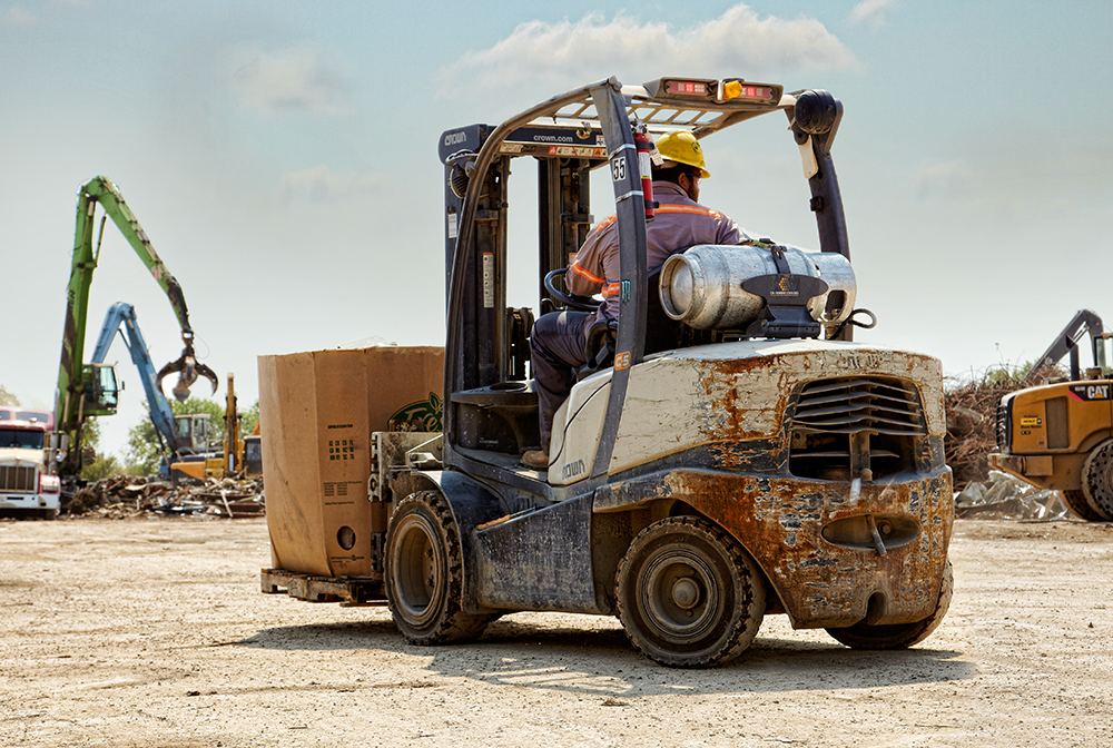 Gas Forklift C-5 at Gold Metal Recyclers