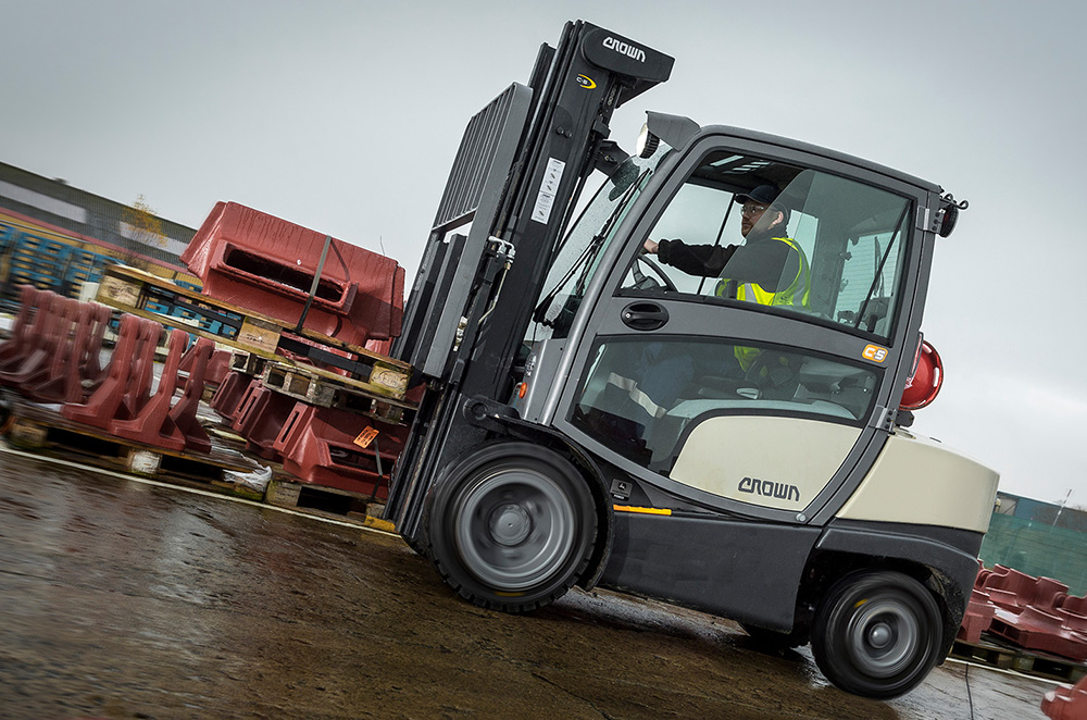 Gas Forklift C-5 at Terex Trucks Motherwell