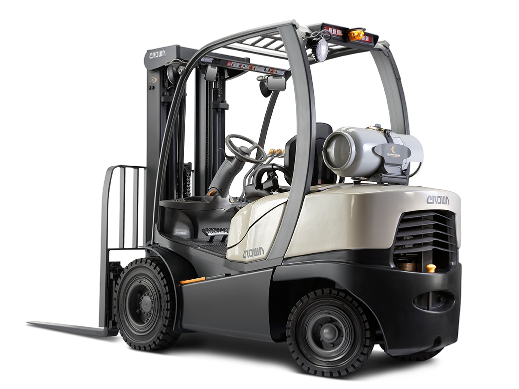 Crown has donated C-5 gas forklift to F-Tec