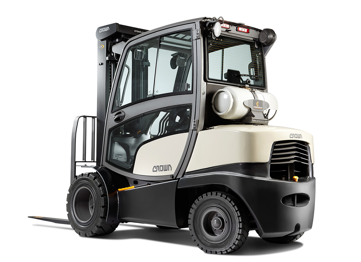 Full cabin for c 5 gas forklift with unrivalled ergonomics Motorized forklift