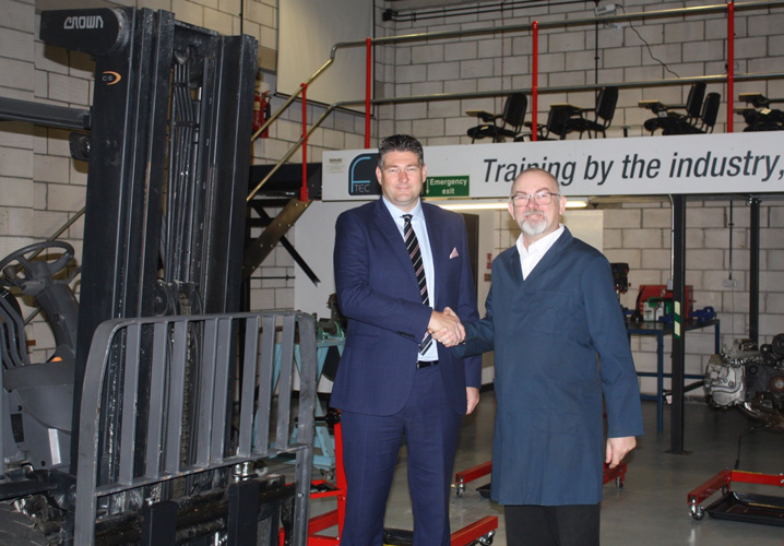 Crown has donated gas forklift to F-Tec