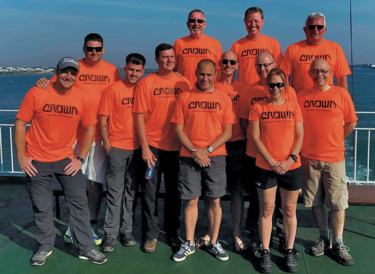 Team of Crown Lift Trucks at MIND charity walk