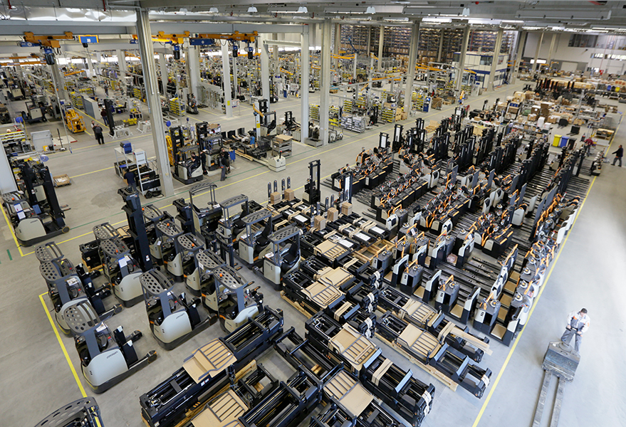 Crown forklift factory in Roding, Germany